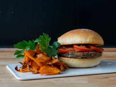 Schwarzer-Bohnen-Burger